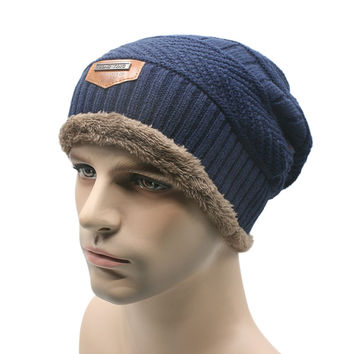 Unisex Women Men Sports Camping Hat Winter Beanie Baggy Warm Wool Ski Cap
