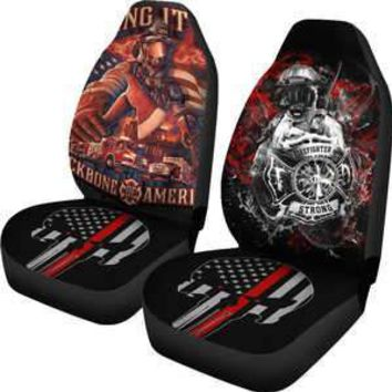 Firefighter Punisher Thin Red Line Car Seat Covers