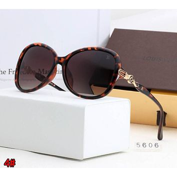 LOUIS VUITTON LV Classic Popular Men Women Chic Shades Eyeglasses Glasses Sunglasses 4# Leopard Grain