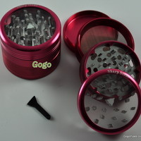 G105 Sharp Stone Clear Top Herb Grinder - Herb Grinders