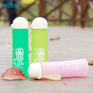 Cute Hot Deal Coffee Drinks Hot Sale On Sale Box Anime Plastic Portable 3-color Cup [6284350022]