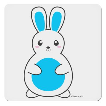 "Cute Easter Bunny - Blue 4x4"" Square Sticker by TooLoud"