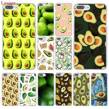 Lavaza Avocado fruit art pattern Hard Coque Shell Phone Case for Apple iPhone 8 7 6 6S Plus X 10 5 5S SE 5C 4 4S Cover