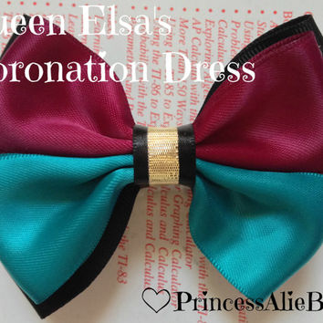 Frozen's Queen Anna Coronation Dress Hair Bow