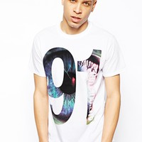 Anticulture T-Shirt with 91 Front and Back Eye Print