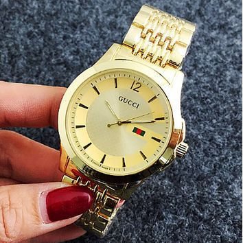 Gucci Woman Men Fashion Quartz Movement Wristwatch Watch