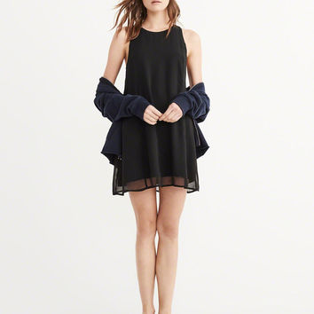 Womens Chiffon Swing Dress | Womens New Arrivals | Abercrombie.com