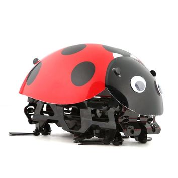 Remote Control Simulate Ladybug Beetle Electronic Toy DIY Children Kids Birthday Gift Novelty Toys Simulation Scramble Insect