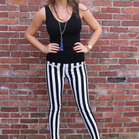 Black & White Stripe Pants