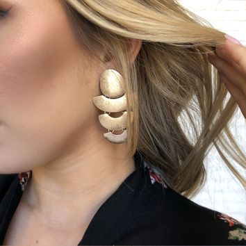 Tessa Drop Gold Earrings