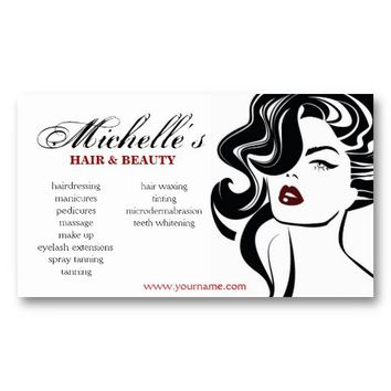 Shop beauty salon business cards on wanelo retro hair beauty salon business card design from zazzle reheart Image collections