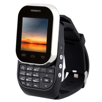 KEN XIN DA W1 Bluetooth Smart Watch mobile Phone 32MB GSM Dual SIM Card Slide-out Keyboard wrist watch cellphone for IOS Android