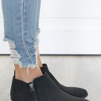 Get To Know You Booties - Black