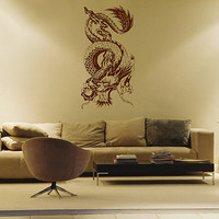 kik1579 Wall Decal Sticker Dragon Chinese mythological beast bedroom living room
