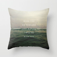 DEEP WATERS Throw Pillow by Pocket Fuel
