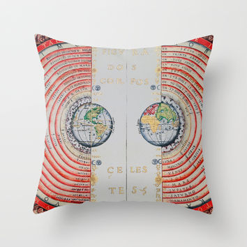 Ptolemaic geocentric conception of the Universe Throw Pillow by Jbjart | Society6
