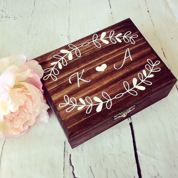 Rustic Advice For The Bride Book Alternative Box With Hearts Rustic Bridal Shower Decor Bridal Shower Gift Wood Advice For The Bride Box