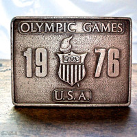 1976 Team USA Olympic Games Belt Buckle -- Olympic Games Souvenir