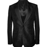 Alexander McQueen - Slim-Fit Rose-Patterned Silk Blazer | MR PORTER