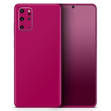Solid Dark Pink V2 - Skin-Kit for the Samsung Galaxy S-Series S20, S20 Plus, S20 Ultra , S10 & others (All Galaxy Devices Available)