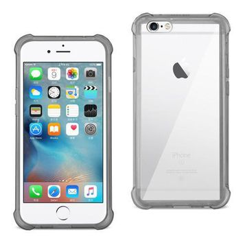 REIKO IPHONE 6/ 6S/ 7 CLEAR BUMPER CASE WITH AIR CUSHION PROTECTION IN CLEAR BLACK