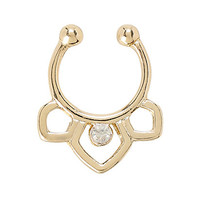 LOVEsick CZ Outline Faux Septum Ring