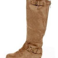 Diva Lounge Tosca 01A Taupe Knee High Riding Boots - $42.00