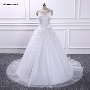 yiwumensa vestidos de novia  gowns Bridal wedding dresses 2018 applique wedding dress robe de mariee Wedding dress trouwjurk