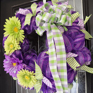 Spring  Wreath, Door Hanger, Decoration Ready To Ship