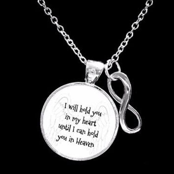 I Will Hold You In My Heart Guardian Angel Infinity Memory Sympathy Necklace