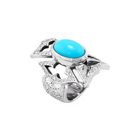 Loree Rodkin Women's Loree Rodkin Composite Turquoise Geometric Ring