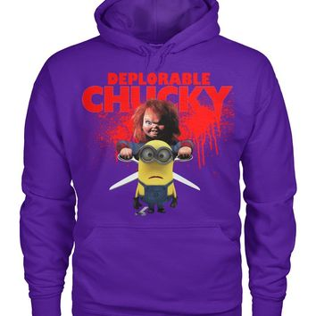 Deplorable Chucky Pullover Hoodie 8 Oz