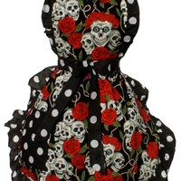 Skulls And Roses Full Apron