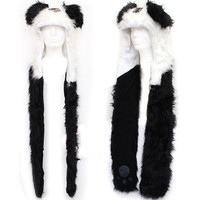 Panda Hat Pocket Scarf
