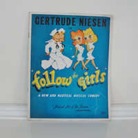 Vintage Broadway Theater Souvenir Program Follow the Girls Gertrude Niesen Jackie Gleason 1940s