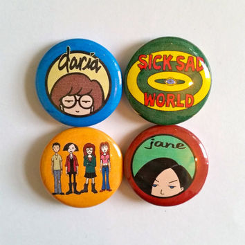 Daria pinback buttons or magnets
