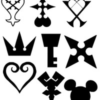 Kingdom Hearts  Decal Sticker SET OF 9