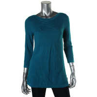 Cable & Gauge Womens Textured Boatneck Pullover Sweater