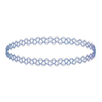 Blue Tattoo Choker - Blue