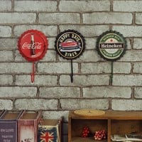 DCCKUNT Creative Home Decoration Metal Beer Bottle Hook