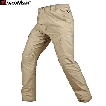 MAGCOMSEN Men Pants Summer Thin Tactical Pants Military Army Quick Drying Urban Combat Long Pants Trousers Cargo Pants AG-PLY-25