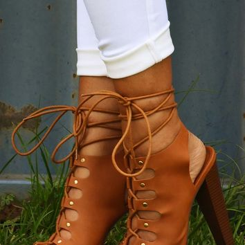 America The Beautiful Heels: Cognac