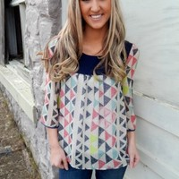 Triangle Printed Top