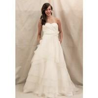 Princess slim A-line chiffon wedding dress style