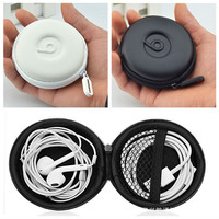 1PC Portable Travel Earphone Storage Case Headphone Carrying Hard Bag Earbuds SD Card Micro USB Ultralight Cable Box White/Black