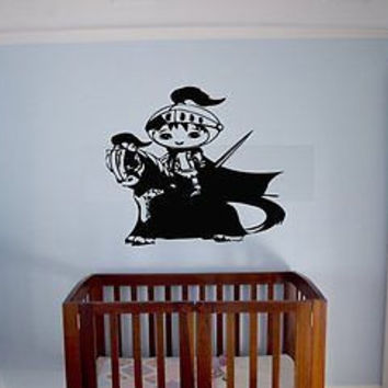 Little Knight Boys Room Decor Wall Art Sticker Decal Ar306