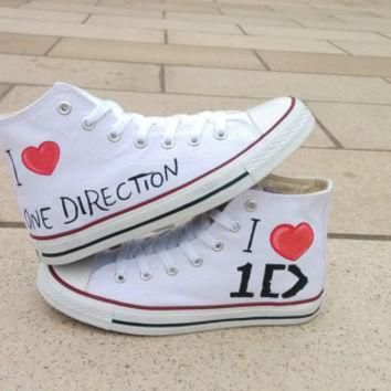 one direction converse shoes hand paint converse sneakers custom converse special chr