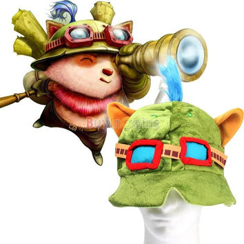Teemo LOL Plush Cosplay Cap