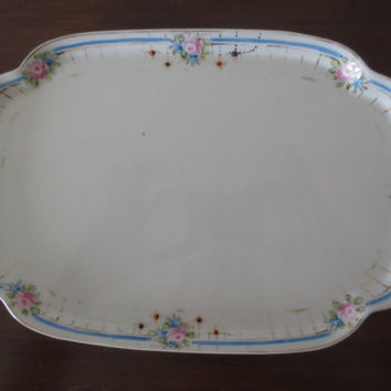 Antique Nippon Vanity Plate or Serving Plate.  Bridal Shower, Tea Party, Home Decor.