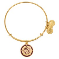 Cabernet Compass Charm Bangle